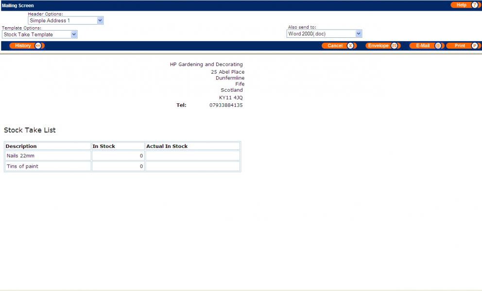 Stock Management Screenshots | MyBusiness: www.mybiz.co.uk/stock_management_screenshots.html